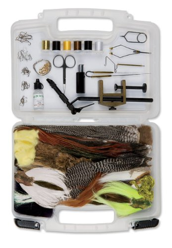 Orvis orvis fly tying kit with manual sporting goods for Fly fishing kits