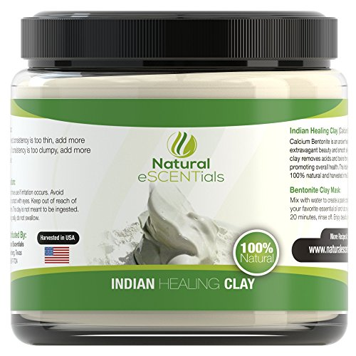 Calcium Bentonite Clay Powder - Deep Cellular Healing - Detox, Cleanse, Restore - FREE Mask and Body Wrap Recipes Included (Positive And Negative Magnets compare prices)