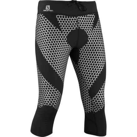 Salomon Salomon Exo 3/4 Tights - Men's-Black Silver-M