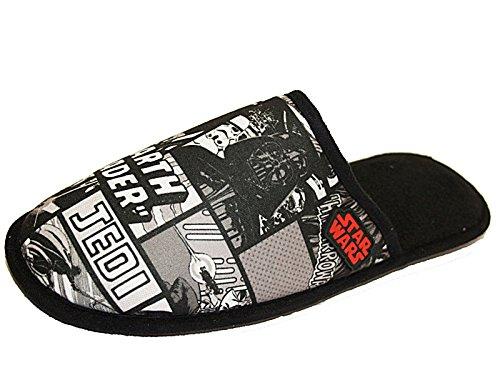 Star Wars - Pantofole Ragazzi Unisex adulti uomo donna , nero (Black), M (43 EU-44 EU)