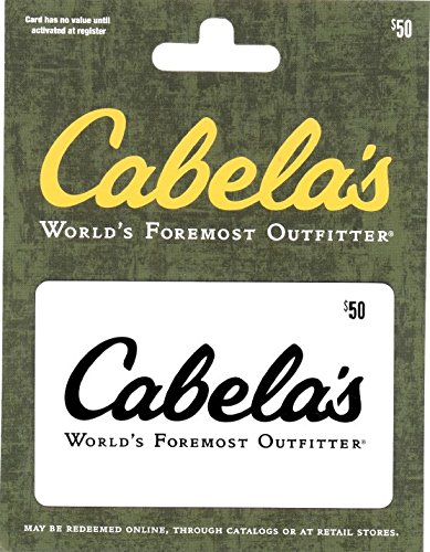 Cabelas $50 Facility Card