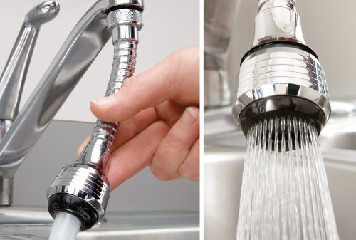 Utility Sink Faucet Sprayer Attachment : ... for kitchen bathroom or laundry room sinks this handy flexible sprayer
