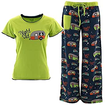 Amazon.com: Lazy One Juniors Green Camper Pajamas Night Out: Clothing