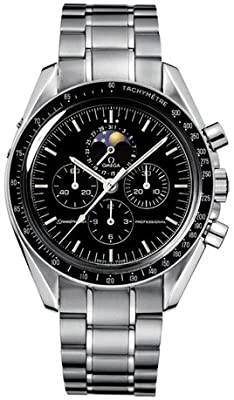 Omega Men's 35765000 Speedmaster Analog Display Automatic Self Wind Silver Watch