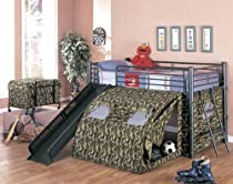 Hot Sale Coaster Kid's GI Child Bunk Bed with Slide and Tent, Twin Size