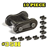 10-PIECES Standard #35H Connecting Link, 0.375'' Pitch, Carbon Steel, Strong & Durable For Wide Application