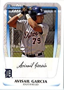2011 Bowman Prospects Baseball Card # BP72 Avisail Garcia - Detroit Tigers (RC - Rookie Card / Prospect XRC) MLB Trading Card in a Protective Display Case