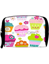 Snoogg Cup Cakes Travel Buddy Toiletry Bag / Bag Organizer / Vanity Pouch