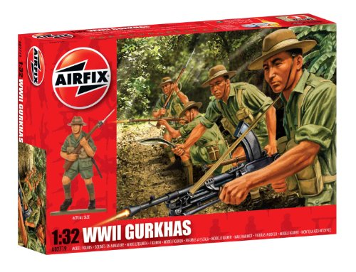 Airfix A02719 WWII Gurkahs Figures, 1:32 Scale