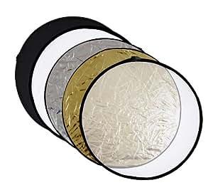 meymoon panneau réflecteur argent ; noir ;or ; blanc/ Diffuseur pliable 80 cm Photo; Studio, réflecteur pliable 5 en 1 avec sac de transport