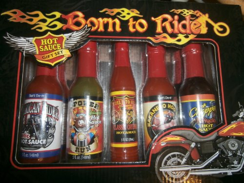 Born to Ride Biker Hot Sauce Gift Set