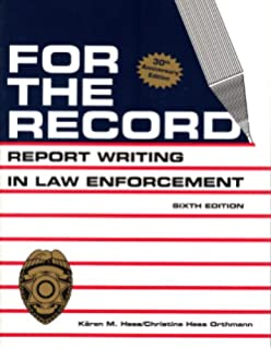 Amazon com: Painless Police Report Writing: An English Guide for