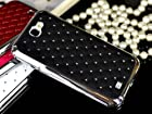 Bling Rhinestone Hard Case Cover Skin for Samsung Galaxy Note 2 N7100 Black