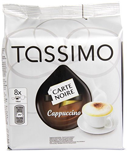 Purchase TASSIMO Carte Noire Cappuccino coffee 16 discs, 8 servings (Pack of 5, Total 80 discs/pods, 40 servings) - Kraft Foods
