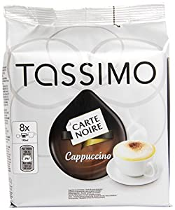 TASSIMO Carte Noire Cappuccino coffee 16 discs, 8 servings (Pack of 5, Total 80 discs/pods, 40 servings)