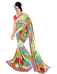 Ananyaaa Women Georgette Designer Saree Latest 2 _ Multicolour _ Freesize