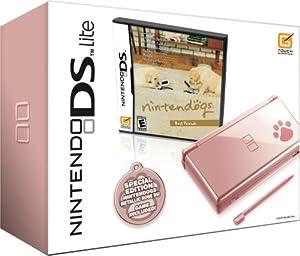 nintendo ds lite metallic rose with nintendogs best friends nds pink bundle video games. Black Bedroom Furniture Sets. Home Design Ideas