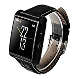 Soyan 2015 latest DM08 Bluetooth watch Hd camera For Android System Sync whatsapp facebook Pedometer And For IPh(partial functions) with Gift box (Black)