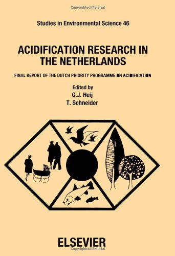Acidification Research in the Netherlands: Final Report of the Dutch Priority Programme on Acidification (Studies in Environmental Science) PDF