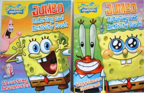 Spongebob Squarepants Coloring Book Set (2 Coloring Books ...