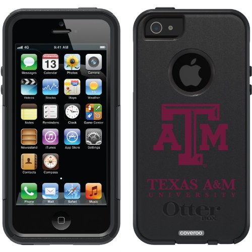 Best Price Texas A&M University design on a Black OtterBox® Commuter Series® Case for iPhone 5s / 5