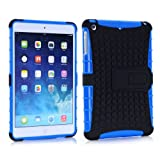 Vogue Shop Ipad mini 2 TPU stand Case, Ipad mini Case Cover - Ipad mini 2 Shock-absorption / Impact Resistant Hybrid Dual Layer Armor Defender Protective Case Cover with Built-in Kickstand for Ipad mini 2 (blue)