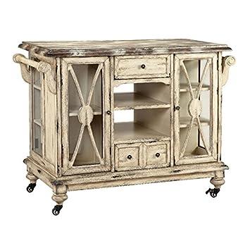 Stein World Furniture Dorset Kitchen Cart, Vintage Vanilla Bean