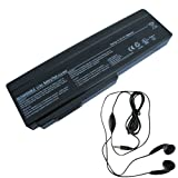 Extended Life Replacement Battery for select Asus Laptop / Notebook / Compatible with Asus M50, M50V, M50Q, M50Sa, M50Sr, M50Sv Series X55Sa, X55Sr, X55Sv, X57VN, A32-M50, A33-M50, 15G10N373800, 90-NED1B2100Y ( 9 Cell, 6600 mAh ) - Includes Stereo Earphone with Microphone