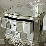 Tiffany Serie-Nachttisch 2Schubladen verspiegelt -