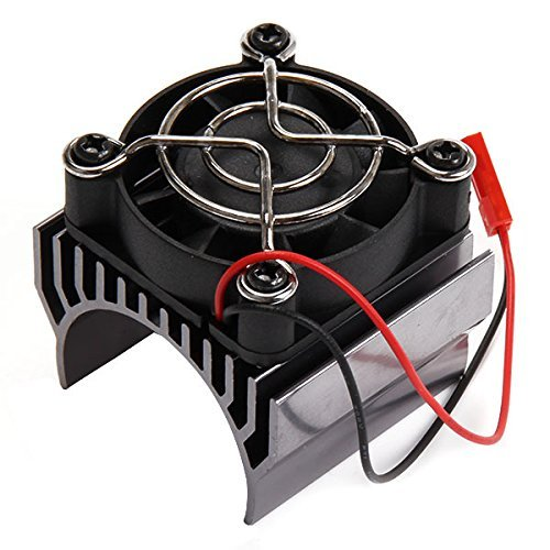 SkyQ Alloy Heatsink with 4.8-6V Cooler Cooling Fan for 1/10 Car 540/550 Size Motor gray (540 Motor Cooling Fan compare prices)