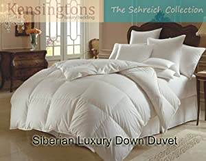 Siberian 100% Down -All Seasons AnyTog King Bed Duvets (4.5 Tog +10.5 Tog= 15.0 Tog)