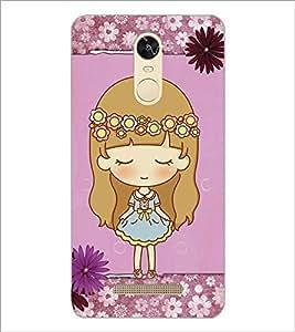PrintDhaba Cute Doll D-3527 Back Case Cover for XIAOMI REDMI NOTE 3 (Multi-Coloured)