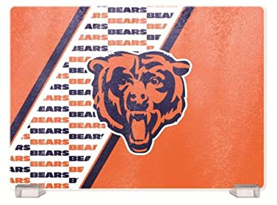 NFL Chicago Bears Glass Cutting Board