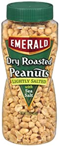 Emerald Lightly Salted Dry Roast Peanuts, 16-Ounce Packages (Pack of 12)