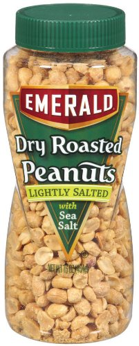 Emerald Lightly Salted Dry Roast Peanuts 16 Ounce Packages Pack of 12