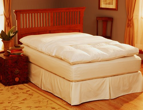 Buy Bargain Pacific Coast® Feather Bed Cover w zip closure Twin (Featherbed not included) 155