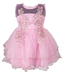 Addyvero Cherry Blossom Pink Baby Girls Halter Dress
