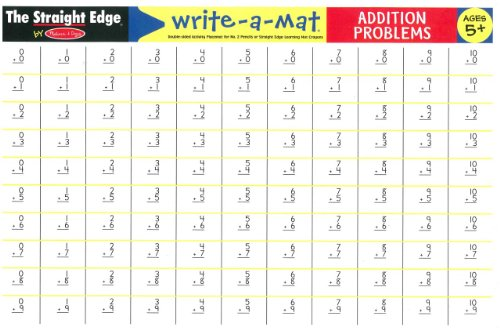 Melissa & Doug Addition Problems Write-A-Mat - 5006 - 1