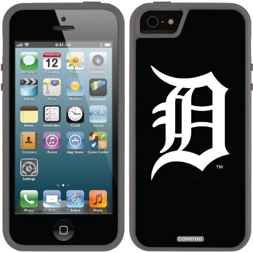Great Price Detroit Tigers - D White design on a Black iPhone 5s / 5 Guardian / Ruggedized Case by Coveroo