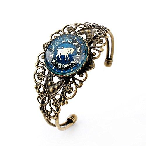 luremer-vintage-jewelry-time-gem-the-zodiac-series-taurus-antique-bronze-hollow-flower-open-bangle-b