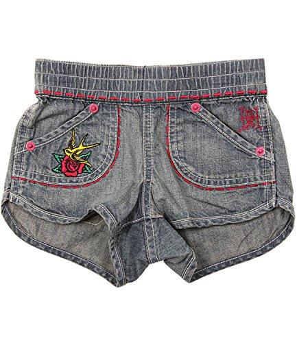 Ed Hardy Big Girls' Bird Shorts - Denim - Multi-Sizes