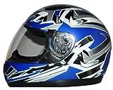Kinder Motorradhelm blau SA03
