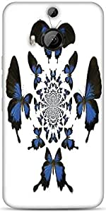 Snoogg Kaleidoscopic Butterflies Designer Protective Back Case Cover For HTC M9 Plus