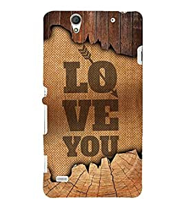 Love You Quote 3D Hard Polycarbonate Designer Back Case Cover for Sony Xperia C4 Dual E5333 E5343 E5363 :: Sony Xperia C4 E5303 E5306 E5353