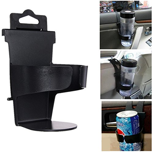 Auto Car Trunk Plastic Beverage Drink Cup Bottle Can Holder Stand Mount Black