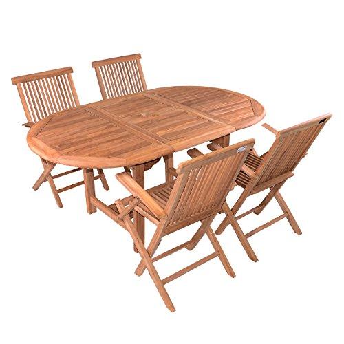 DIVERO-5-tlg-Garten-Mbel-Set-Sitzgruppe-TEAK-Holz-Klappstuhl-Tisch-120170