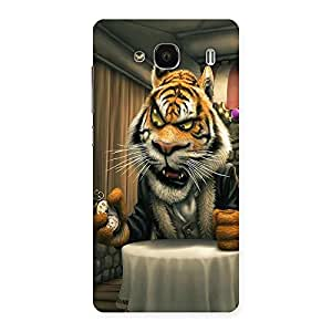 Ajay Enterprises Angry Tiger Sit Back Case Cover for Redmi 2