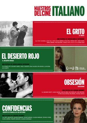 Pack Maestros Del Cine Italiano (El Grito (V.O.S.) Il Grido (1957) / El Desierto Rojo (Il Deserto Rosso) (1964) / Obsesión (Ossessione) (V.O.S.) (1943) / Confidencias (Gruppo Di Famiglia in Un Interno) (1974)) (4 Dvds) (Import)