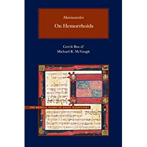 On Hemorrhoids (Brigham Young University - Medical Works of Moses Maimonides) 51d6tugq-9L._SL500_AA300_
