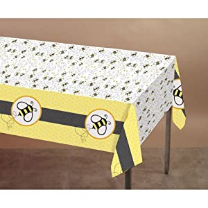 Buzz Bumble Bee Theme Party Plastic Tablecover Birthday Baby Shower (1 ct)